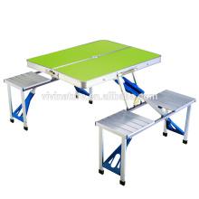 nouvelle table de pique-nique en plastique frais et ensembles de chaise et table de pique-nique de valise