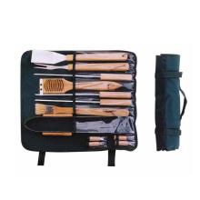 12 Stück Grillwerkzeuge mit Holzgriff