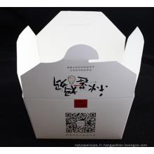 Boîte blanche faite sur commande de nouille de carton de logo avec la poignée en métal