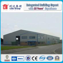Entrepôt préfabriqué en acier de construction légère de construction d'acier