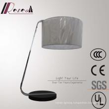 Modern Simple Hotel Decorative Polished Chrome Bedside Table Lamp