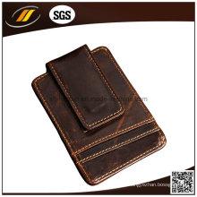 Meilleure vente de porte-cartes de crédit en cuir portable pour hommes et femmes