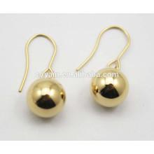 316L Edelstahl 18k Vergoldung Kugel Ohrringe Designs für Mädchen