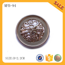 MFB94 Shanks en alliage de zinc, bouton de couture logo gravé