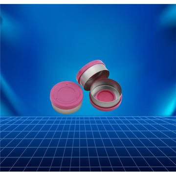pink aluminium and plastic cap for glass bottle