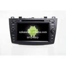 Quad-Core! Auto-DVD mit Spiegellink / DVR / TPMS / OBD2 für 8-Zoll-Touchscreen-Quad-Core-4.4 Android-System MAZDA 3