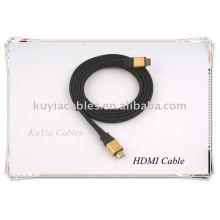 Золотой плоский кабель HDMI для HD-кабеля для 1080p PS3 HDTV
