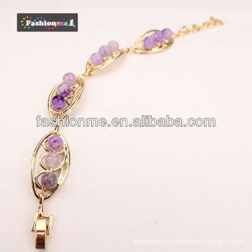 Bracelet de Pierre d'agate FashionMe FA-B008-9