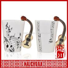 Taza de café de cerámica musical taza