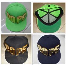 Diseño de moda nueva droga personalizar cristal hiphop carta remache snapback sombrero gorra