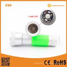2015 O mais barato C99 1W LED 3xaaa multifunções LED luz de trabalho