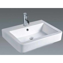 Lavabo rectangular del gabinete de cuarto de baño (026)