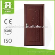 Porta de melamina interior de proteção de saúde com placa de MDF de 6mm