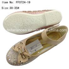 Sapatos de criança sapatos de dança menina sapatos princesa sapatos de festa (ff0724-19)