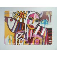 Diseño popular de la pintura de la pintada PP / PVC Placemat / práctico de costa
