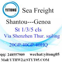 Internationaler Versandservice von Shantou nach Genua