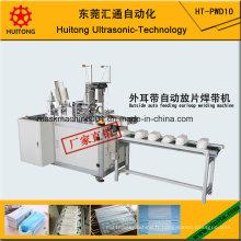 Machine de soudure extérieure automatique de Earloop de masque médical avec la machine de système d'alimentation automatique