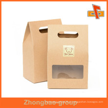 Sacos de papel da embalagem do alimento da impressão com a janela para doces / porcas / Snack etc.