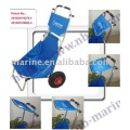 Trolley playa plegable con sombrilla ajustable