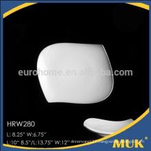 china wholesale white ceramic hotel banquet porcelain plate