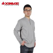 Chemise tricotée ignifuge en coton pour homme