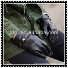 Nuevo guante de conducción de la hebilla del negro del cuero del hombre del diseño 2013