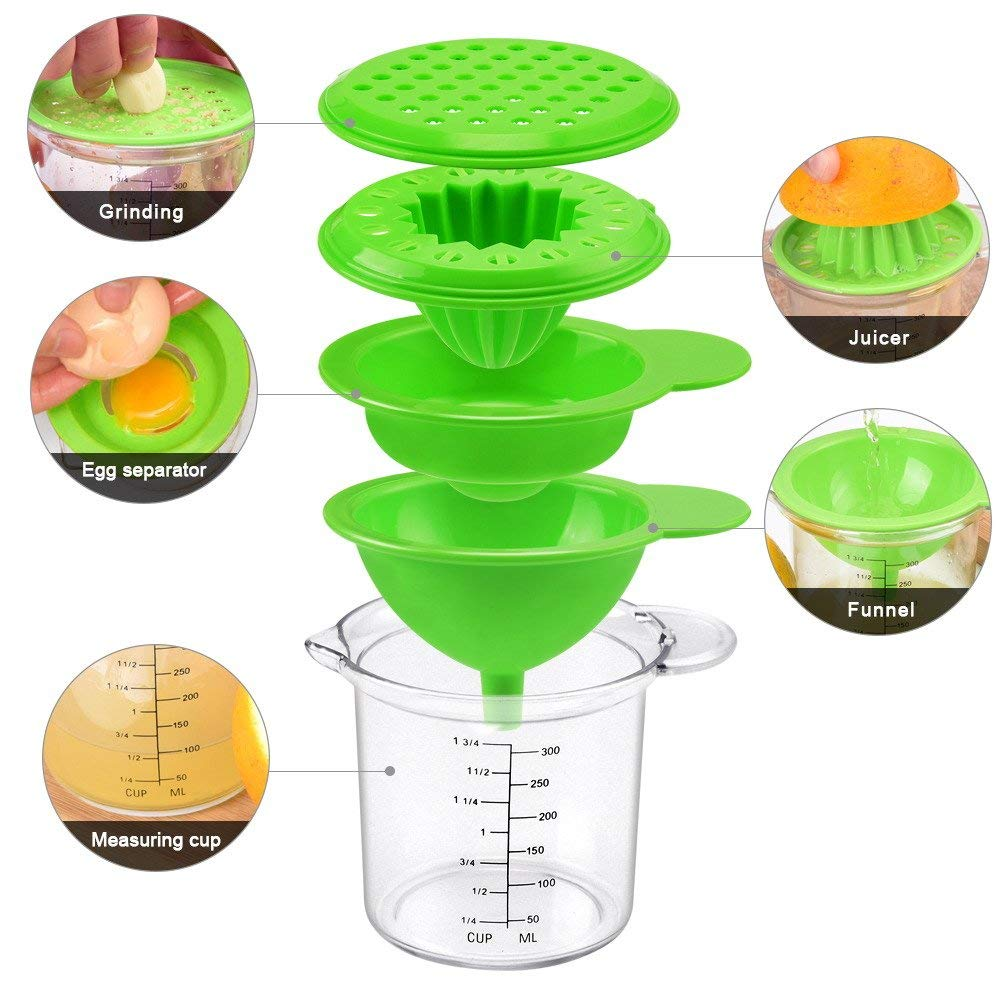 Plastic Measuring Cups with Lids