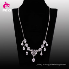 Best Selling White Stone Pendant Necklace for Wedding