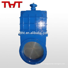 Through conduit non rising oil knife iron gate valve ductile