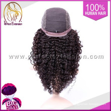 For Black Women Brazilian Natural Black Full Afro Kinky Curl Lace Wigs