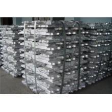 Lingote de aluminio de alta pureza 99,7, 99,5, 99,8, 99,9 min, (A7, A8, A5)