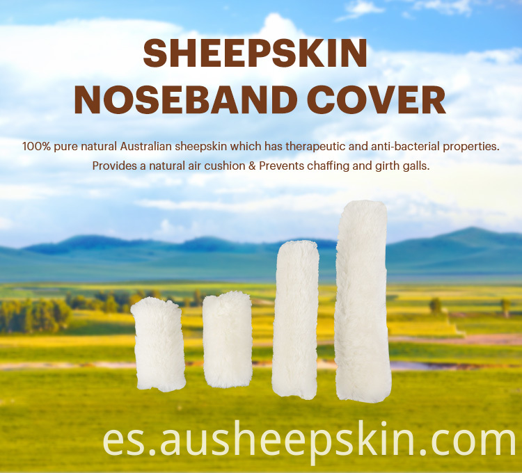 Sheepskin Horse Nose Bands