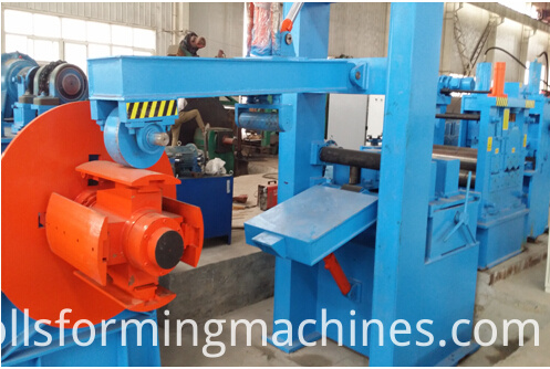 single head decoiler of pipe machine