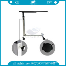 AG-OBT001B marco de acero médico móvil mesa de hospital bandeja extraíble