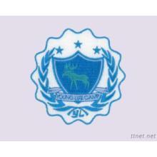 Parado de feltro com bordados, emblema escoteiro