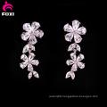 Flower Design White Gemstone Earring for Wedding