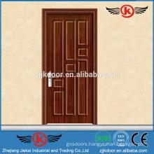 JK-P9053swing finished pvc/mdf bathroom door manufacturer pvc film bathroom cabinet door