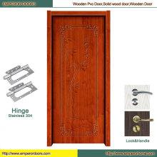 Главная деревянные двери МДФ ПВХ дверь створка деревянной двери