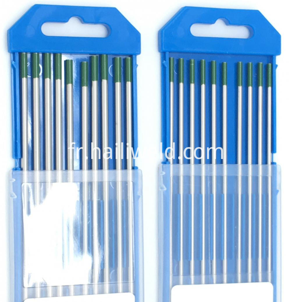 Pure Tungsten Electrode Wp 2 4mm X 175mm