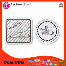 "Diameter 4"" Coasters Set of 2 Design Different Colors Cup Mat Pad"