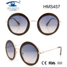 Gafas de sol de acetato de forma redonda (hms457)