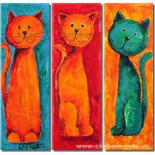 Pintura al óleo decorativa animal del gato