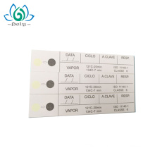 Fabrik Preis Dampf Sterilisation Luftfeuchtigkeit Indikator Karte / Etikett