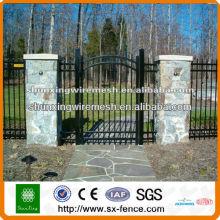 Hot sale PVC coated fence gate grill designs(manufacturer)
