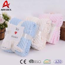 promotion super soft custom solid micromink winter blanket