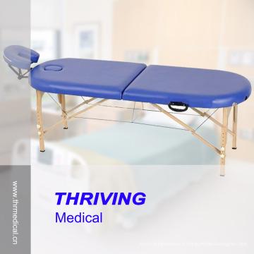 Table de massage portable en bois de hêtre de haute qualité (THR-WT002F)
