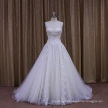 Блеск Лук Сексуальная Холтер Милая Свадебное Платье