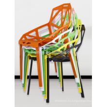 comedor café sillas de plástico hueco rama de árbol silla de acrílico silla de plástico