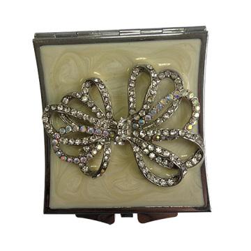 Ruban cristal Compact miroirs 7CM rond