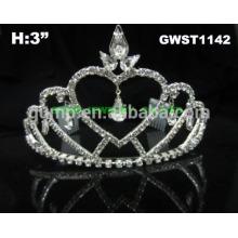 Einfache Herz Prinzessin und Braut billig Tiara Krone